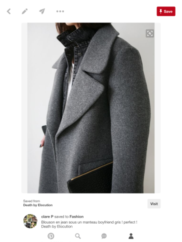 Grey Wool Coat, layered look