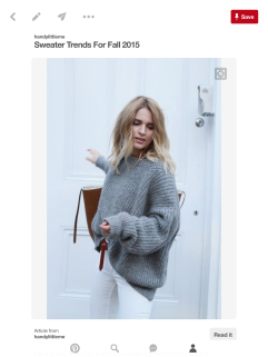 Grey Oversize Jumper